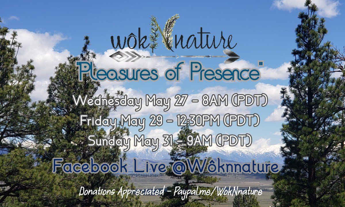 VIRTUAL Facebook Live @Wôknnature - Donations Accepted -- No Fee